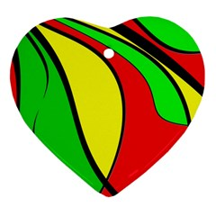 Colors Of Jamaica Heart Ornament (2 Sides)