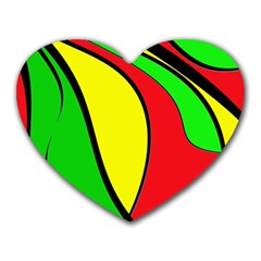 Colors Of Jamaica Heart Mousepads