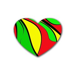 Colors Of Jamaica Rubber Coaster (Heart)