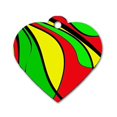 Colors Of Jamaica Dog Tag Heart (Two Sides)