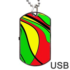 Colors Of Jamaica Dog Tag USB Flash (Two Sides)