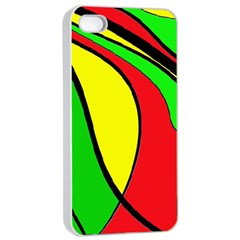Colors Of Jamaica Apple iPhone 4/4s Seamless Case (White)