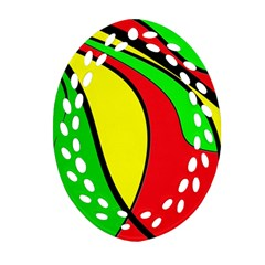 Colors Of Jamaica Ornament (Oval Filigree)