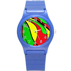 Colors Of Jamaica Round Plastic Sport Watch (S)