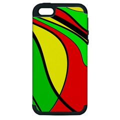 Colors Of Jamaica Apple iPhone 5 Hardshell Case (PC+Silicone)