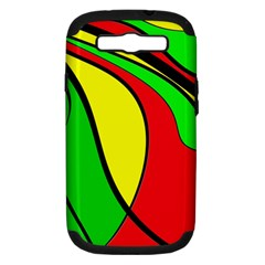 Colors Of Jamaica Samsung Galaxy S III Hardshell Case (PC+Silicone)
