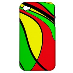 Colors Of Jamaica Apple iPhone 4/4S Hardshell Case (PC+Silicone)