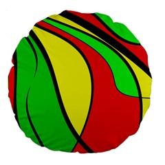 Colors Of Jamaica Large 18  Premium Round Cushions