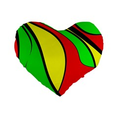Colors Of Jamaica Standard 16  Premium Heart Shape Cushions