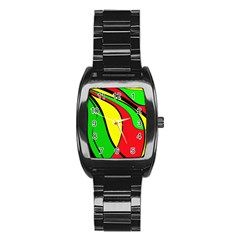Colors Of Jamaica Stainless Steel Barrel Watch