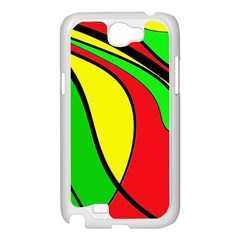 Colors Of Jamaica Samsung Galaxy Note 2 Case (White)