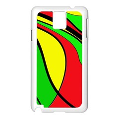 Colors Of Jamaica Samsung Galaxy Note 3 N9005 Case (White)