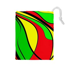 Colors Of Jamaica Drawstring Pouches (Large)