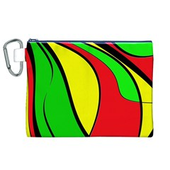 Colors Of Jamaica Canvas Cosmetic Bag (XL)