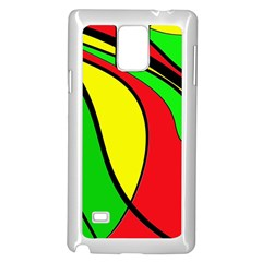 Colors Of Jamaica Samsung Galaxy Note 4 Case (White)