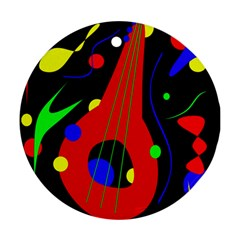Abstract guitar  Ornament (Round)