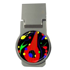 Abstract guitar  Money Clips (Round)