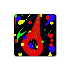 Abstract guitar  Square Magnet