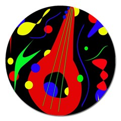 Abstract guitar  Magnet 5  (Round)