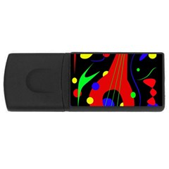 Abstract guitar  USB Flash Drive Rectangular (2 GB)