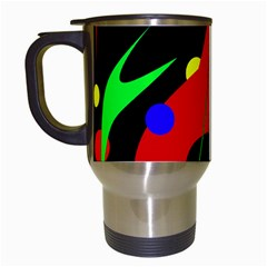 Abstract guitar  Travel Mugs (White)