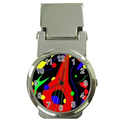 Abstract guitar  Money Clip Watches
