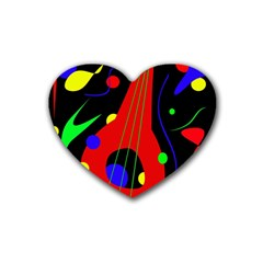 Abstract guitar  Heart Coaster (4 pack)