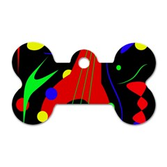 Abstract guitar  Dog Tag Bone (Two Sides)