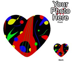 Abstract Guitar  Multi Purpose Cards (heart)
