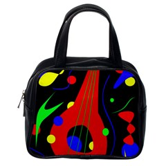 Abstract guitar  Classic Handbags (One Side)