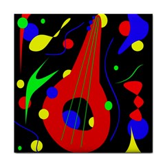 Abstract guitar  Face Towel