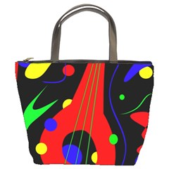 Abstract guitar  Bucket Bags