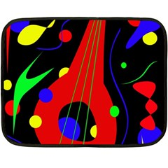 Abstract guitar  Double Sided Fleece Blanket (Mini)