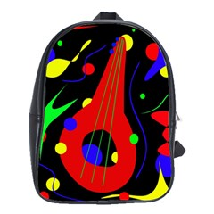 Abstract guitar  School Bags(Large)