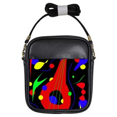Abstract guitar  Girls Sling Bags