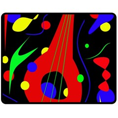 Abstract guitar  Fleece Blanket (Medium)