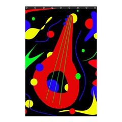 Abstract guitar  Shower Curtain 48  x 72  (Small)