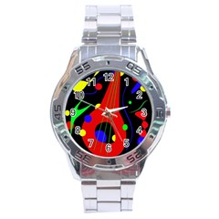 Abstract guitar  Stainless Steel Analogue Watch