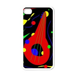 Abstract guitar  Apple iPhone 4 Case (White)