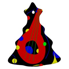 Abstract Guitar  Christmas Tree Ornament (2 Sides)