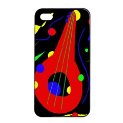 Abstract guitar  Apple iPhone 4/4s Seamless Case (Black)