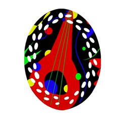 Abstract guitar  Oval Filigree Ornament (2-Side)
