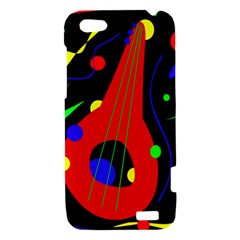 Abstract guitar  HTC One V Hardshell Case