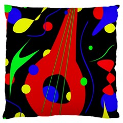 Abstract guitar  Large Cushion Case (One Side)