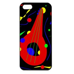Abstract guitar  Apple iPhone 5 Seamless Case (Black)