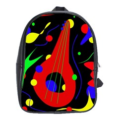 Abstract guitar  School Bags (XL)