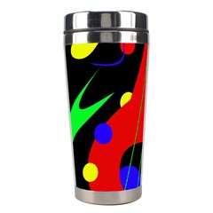Abstract guitar  Stainless Steel Travel Tumblers