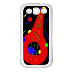 Abstract guitar  Samsung Galaxy S3 Back Case (White)