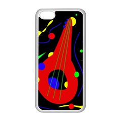 Abstract guitar  Apple iPhone 5C Seamless Case (White)