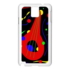 Abstract guitar  Samsung Galaxy Note 3 N9005 Case (White)